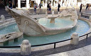 Fontana_della_Barcaccia_restaurata,_lato_Scalinata_Trinità_dei_Monti
